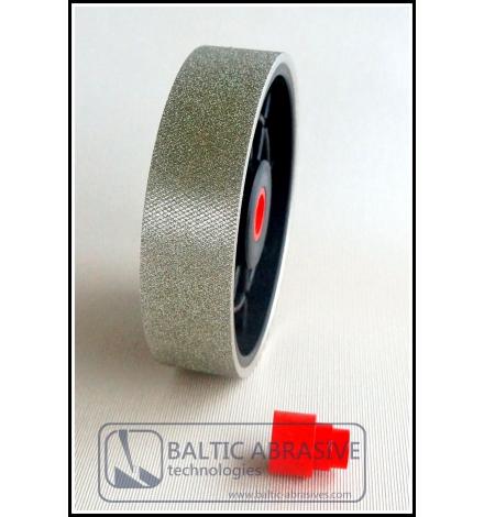 6 inch textured lapidary diamond wheel. Grit: 100