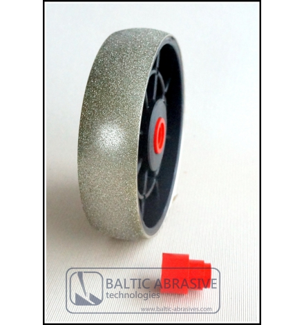 6 inch convex lapidary diamond wheel. Grit: 80