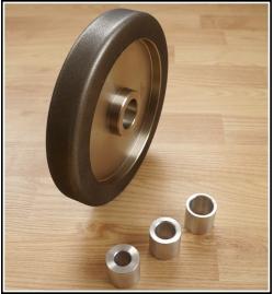 Grit: 80, 8 inch radius CBN wood turner tool sharpening wheel